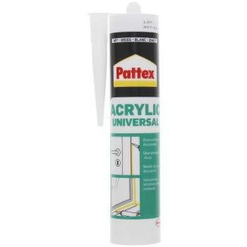 Pattex Universal Acryl Acrylkitt weiß für Innen und Außenbereich anwendbar überstreichbar 300ml