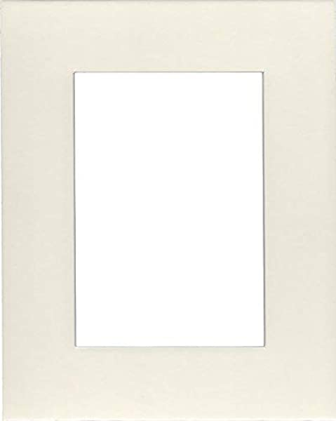 Pack Of 2 16x20 Acid Free White Core Picture Mats Cut For 11x14 Pictures In Cream