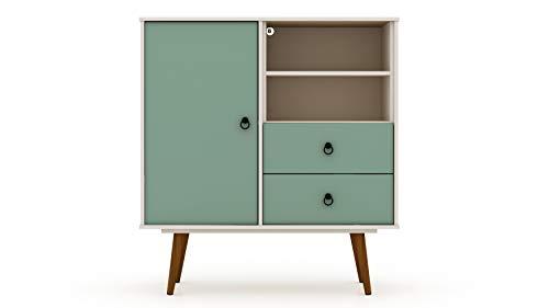 Manhattan Comfort Tribeca Modern 2 Drawer Home Bedroom Dresser, 40.75