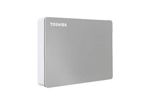 Toshiba Canvio Flex 4TB Portable External Hard Drive USB-C USB 3.0, Silver for PC, Mac, & Tablet - HDTX140XSCCA