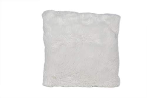 A-Kussen Synthetisch Bont Wit 45x45cm (set van 2)