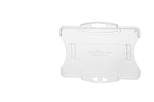 Durable 891819 Ausweishalter (für 1 Betriebs-/Sicherheitsausweis im Format, 54 x 85 mm) Packung à 10 Stück transparent