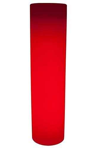 Luminatos Pillar 150, led-zuil bloempot 150 cm met afstandsbediening verlicht 16 kleuren