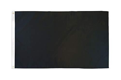 AZ FLAG Flagge EINFARBIG SCHWARZ 150x90cm - EINFARBIG Fahne 90 x 150 cm - flaggen Top Qualität
