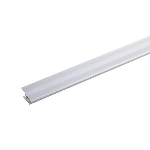 acerto 36931 Übergangsprofil Aluminium, 2-teilig - 100cm, 7-10mm (silber) * Rutschhemmend * Kratzfest | Übergangsleiste für Teppich-Boden, Laminat & Parkett | Alu-Übergangsschiene,zum Klicken