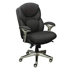 Serta Works Executive Office Chair with Back in Motion Technology, Dark Gray Refresh Fabric