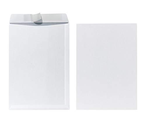 Herlitz Versandtasche C4 90 g Haftklebend, mit Innendruck in Folienpackung, eingeschweißt, weiß (2x 25 Stück)
