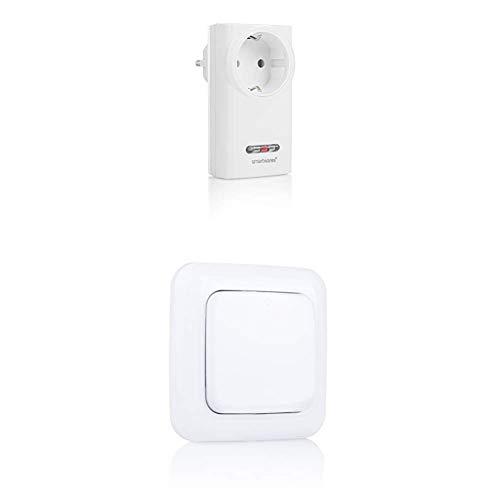 Smartwares SH5-RPS-36A SmartHome Funk-Schalter für Innen 3600 Watt 240 V + SH5-TSW-A SmartHome Funk-Einzelwandschalter 1-Kanal