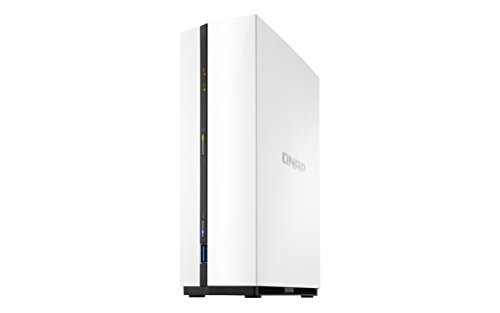 QNAP TS-128A NAS Mini Tower Ethernet LAN White storage server - NAS & Storage Servers (HDD, Serial ATA III, 3.5 , FAT32,HFS+,NTFS,ext3,ext4, 1.4 GHz, Realtek)