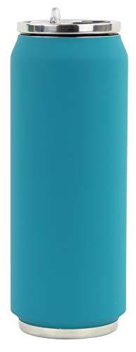 Yoko Design 1713 thermoskan, 500 ml, eendenblauw, roestvrij staal, 19,5 cm