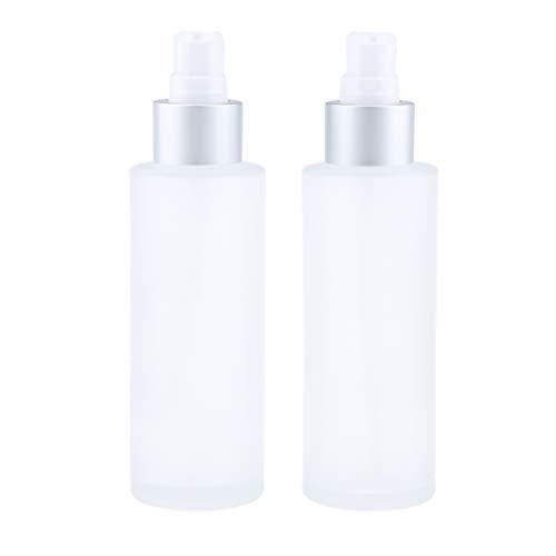 NC 2pcs 100ml Vide Pompe Distributeur Pompe Bouteille Crème Distributeur Bouteille pour Parfum - 100ml pompe