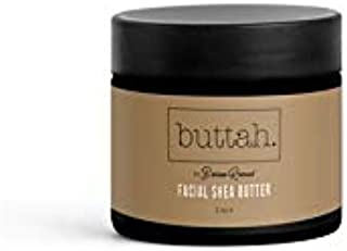 Facial Shea Butter Buttah Skin by Dorion Renaud 2oz - 100% Organic Whipped Natural Virgin Moisturizing Facial Shea Butter - African - Suitable for All Skin Types