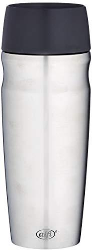 alfi Thermobecher isoMug, Kaffeebecher to go Edelstahl mattiert 350ml, Isolierbecher mit Druckknopf, schwappsicher, 5617.205.035, Coffee to Go 5 Stunden heiß, 10 Stunden kalt, BPA-Free