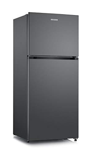 SEVERIN Kühl-/Gefrierkombination, 310 L/ 100 L, Energieeffizienzklasse A++, KGK 8952, dark inox