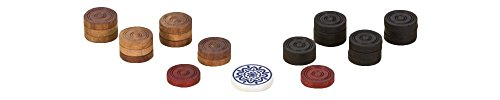 Uber Games Wooden Carrom Game Coins and Striker Set