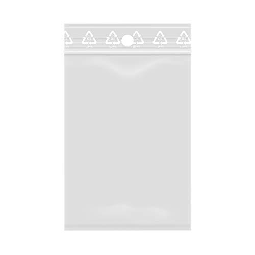 1000 bolsas con cierre de cremallera transparente y plástico apto para alimentos 6x8 cm