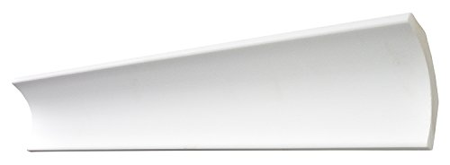 DECOSA Zierprofil B10, weiß, 5 Leisten à 2 m Länge, 72 x 72 mm