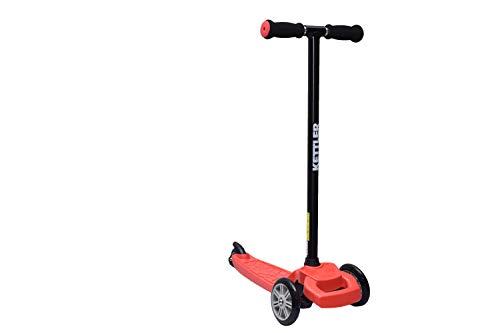 KETTLER Kinderscooter Kickboard KWIZZY, für Kinder ab 3 Jahren, stabiles Fahrverhalten durch Zwei Vorderräder, mit Kick-Fußbremse TÜV zertifizierte Sicherheit und Fahrverhalten (Rot)
