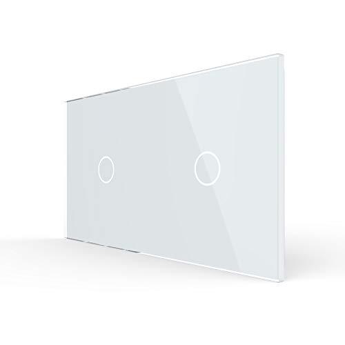 Nur Glasblende LIVOLO Rahmen Glasrahmen für Schalter VL-C7-C1/C1-11-A Weiss