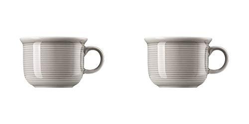 Thomas Trend Colour/Farben - Espresso-Obertasse - 2er-Set - Mokka Tasse Mokkatasse Porzellan Geschirr (Moon Grey (Mond-grau), 2)