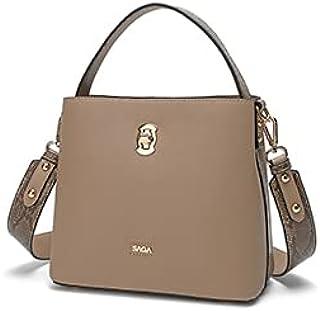 حقيبة كروس جذابة للنساء مع جوانب جلد الثعبان من ساجا