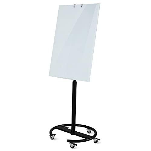 Vivol Lavagna a fogli mobili di design in vetro, 60 x 90 cm, magnetica, girevole e regolabile in altezza