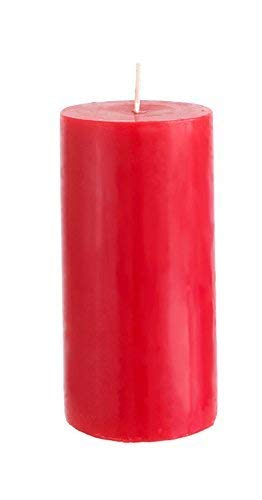 Mega Candles Unscented Red Round Pillar Candle, Hand Poured Premium Wax Candles 3 Inch x 6 Inch, Home Décor, Wedding Receptions, Baby Showers, Birthdays, Celebrations, Party Favors & More