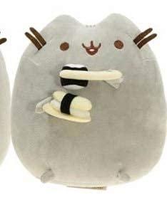 HPMM 15cm Sushi Katze Plüschtier Donuts Katze Kawaii Keks EIS Regenbogen Kuchen Stil Plüsch Weiche Kuscheltiere Spielzeug für Kinder Kinder Geschenk Grau (Color : Silber)