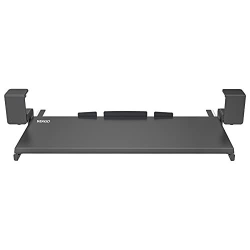 Vergo Keyboard Tray Under Desk Clamp On Mount 27 x 11 Slide Out Drawer Black