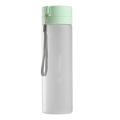 Botella de agua deportiva 800 ml botella de agua transparente portátil plástico a prueba de fugas botella de agua fitness deportes al aire libre verde