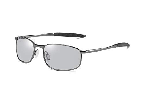 FEISEDY Classic Polarized Photochromic Sunglasses Driving Photosensitive Glasses B2444