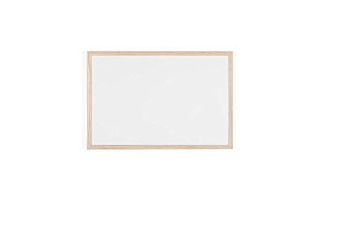 Bi-Office Budget - Pizarra blanca con marco de madera, 60 x 40 cm, no magnética