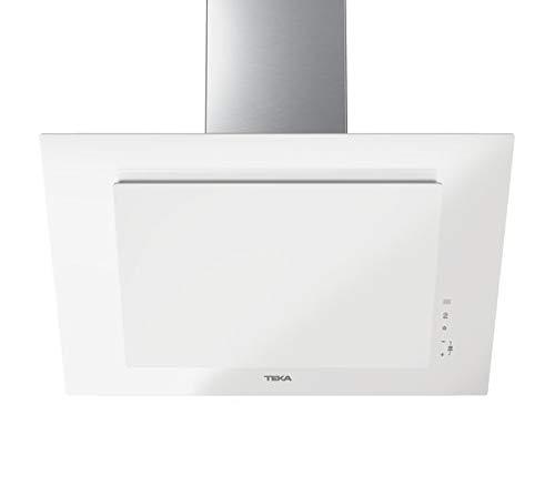 Teka | Campana decorativa vertical | Aspiración perimetral | Función Fresair | DVT 78660 TBS | Cristal blanco | 70cm