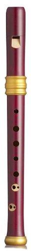 Mollenhauer Adri's Dream Recorders 4119R - Flauto dolce soprano in legno massiccio, in stile barocco con doppi fori, colore: Rosso