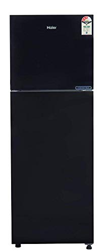 Haier 258 L 3 Star ( 2019 ) Inverter Frost-Free Double Door Refrigerator (HRF-2783CKG-E, Black Glass , Convertible)