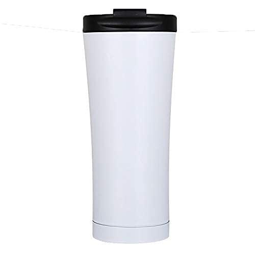 Accesorios para sala de estar Juegos de tazas y platillos Vaso de acero inoxidable Taza de café Taza de viaje con aislamiento al vacío de doble pared de 17 oz con tapa a prueba de derrames Tazas de
