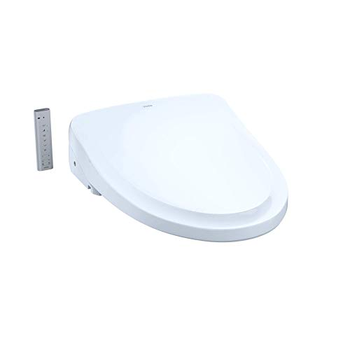 TOTO SW3054#01 S550E Electronic Bidet Toilet Seat with Cleansing Warm, Nightlight, Auto Open and Close Lid, Instantaneous Water Heating, and EWATER+, Elongated Classic, Cotton White