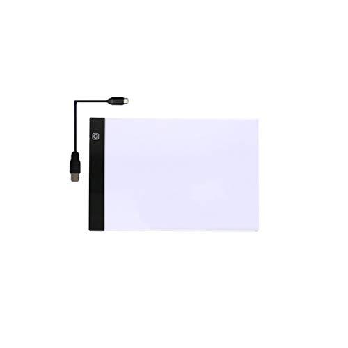 WOWOWO Tablero de Dibujo LED A3 / A4 / A5 Tableta de Dibujo Tablero de gráficos Digitales Caja de luz LED Tablero de Copia Escritura