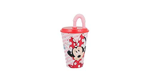 3583; vaso caña Disney Minnie Mouse; producto reutilizable; No BPA; capacidad 430 ml