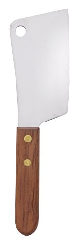 HIC Harold Import Co. Cheese Cleaver and Slicer, 6.75 x 1.75-inches, Stainless Steel Blade with Wooden Handle