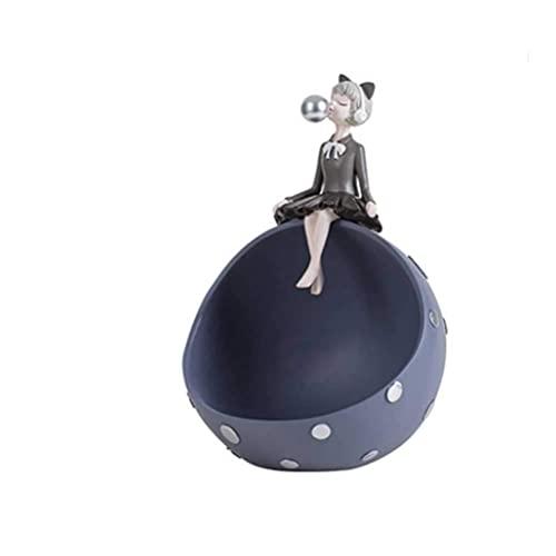 JIANGCJ Gama Alta Adornos de Almacenamiento de niña de Burbujas de Lujo de luz nórdica [gabinete de Zapatos de Puerta en casa Decoraciones de la Sala de Estar (Color : 3)