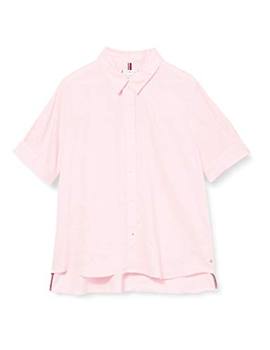 Tommy Hilfiger Th Essential Penelope Shirt SS, Rose (Frosted Pink Toh), 38 Femme