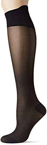 Dim MI-Bas Perfect Contention Transparent 25D Chaussettes Montantes, 25 DEN, Noir (Noir 0hz), Medium (Taille Fabricant:39/41) Femme