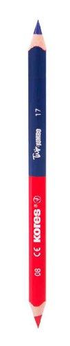 Kores Buntstift Twin Jumbo, 3-kant, 3 mm, 6 Stück, blau/rot