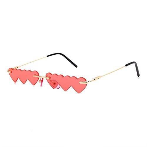 AMFG Gafas de sol de marco pequeñas de moda Equipo de una pieza Equipo de la calle Gafas de sol decorativas (Color : D)