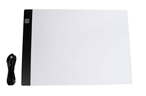 Pracht Creatives Hobby Diamond Dotzlite LED Pad Everyday, Leuchttafel ca. 33 x 23,5 x 0,35 cm groß, 3 Helligkeitsstufen, mit USB-Kabel, ideal für das Malen mit Diamanten oder beim Zeichnen