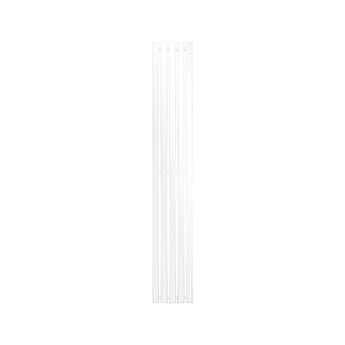 ECD Germany Stella Design Radiador de panel - 260 x 1800 mm - Blanco - Calefacción Central Agua - Radiador moderno para baño