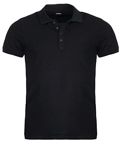 Mens Diesel T-Heal Polo Shirt in Black.