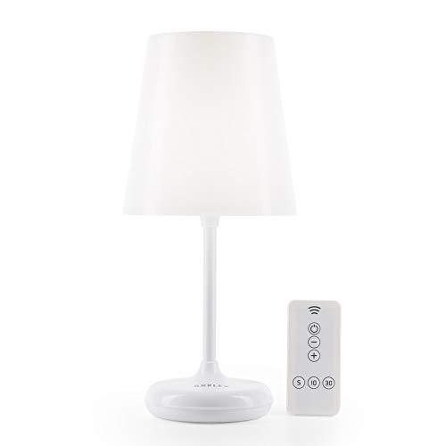 Brilex Veilleuse 3 Modes d'éclairage, Luce Notturna Bambini, Lampe de Chevet Contrôle Tactile et Télécommande, Smart Timing, Lumière Lisse pour Chambre Bébé, Salon, Garage,Blanc Chaud