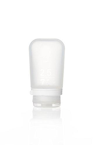 Humangear GoToob + Silikon Reise Flasche mit Verriegelung Gap, mittel (71), farblos (transparent) - 1899067